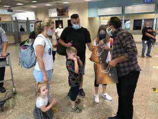 استقبال أولى رحلات الطيران الوافدة من مطار مالبينسا الإيطالية بمطار شرم الشيخ
