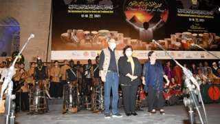 إيناس عبد الدايم تطلق فعاليات المهرجان الدولى الثامن للطبول