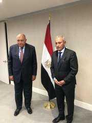 وزير الخارجية يلتقي بأمين عام الاتحاد من أجل المتوسط