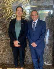 السفير المصري في تيرانا يلتقى وزيرة السياحة الألبانية الجديدة في إطار  دعم العلاقات بين البلدين